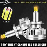 2 sztuk 18000LM H1 H7 Led canbus Led reflektory samochodowe H8 H11 HB3 9005 HB4 9006 3D 360 stopni samochodowe światła przeciwmgielne 2019 nowy