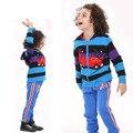 СИНИЙ фиолетовый черный мальчики толстовки детская одежда кофты полосатый пиджак детская одежда новый год спортивные костюмы дети одежда из хлопка