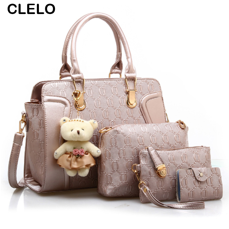 CLELO Designer Handbags Fashion Women Bag Lady PU Leather Messenger Hand Bags Casual Tote Bag Big Shoulder Bags Sac Female 2017 emma yao leather women bag fashion korean tote bag new designer women messenger bags