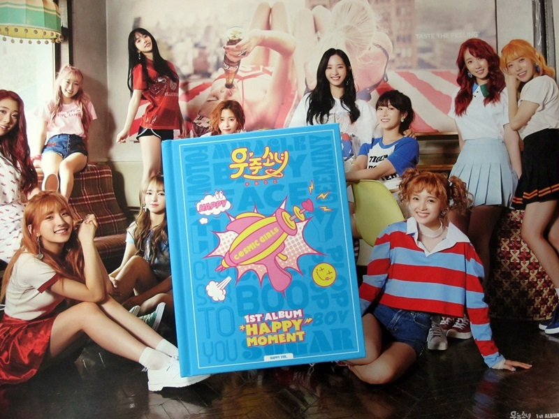 Signed WJSN  autographed first album Happy Moment CD+photobook+signed poster Korean version 062017
