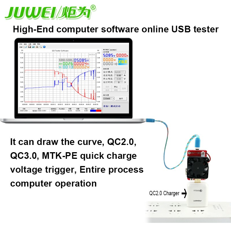 Computer software USB tester DC Last widerstand QC2.0/3,0 MTK PE ...