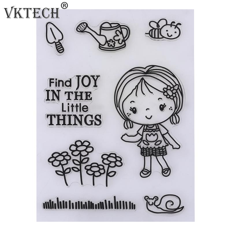 Cartoon Transparent Clear Silicone Stamp Seal for DIY Scrapbooking Photo Album Decorative Clear Stamp Sheets Craft Tool about lovely baby design transparent clear silicone stamp seal for diy scrapbooking photo album clear stamp paper craft ll 052
