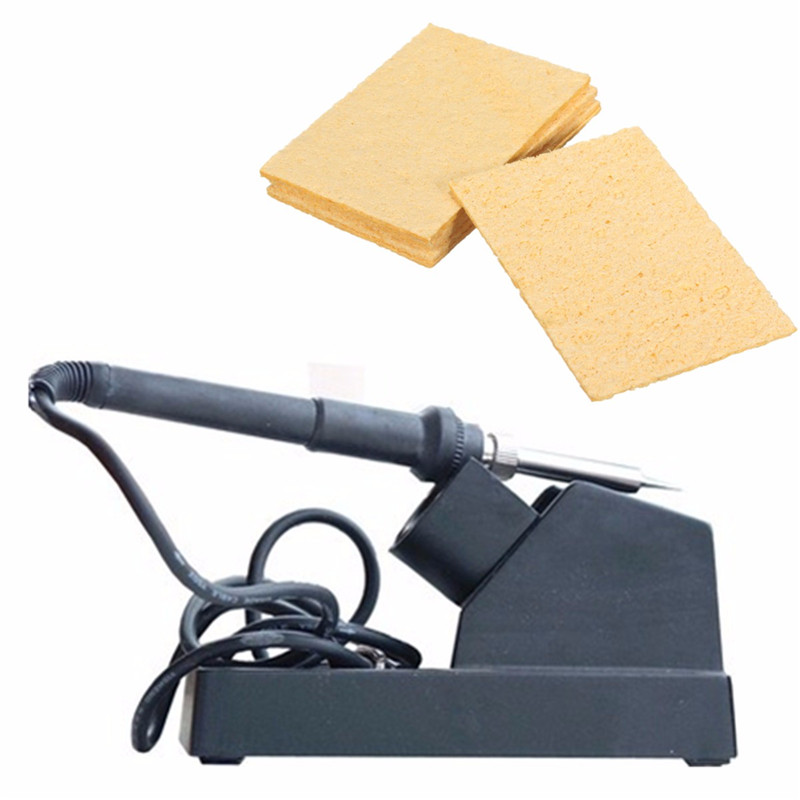 5x3.5cm 5Pcs / Set Universal Iron آهن جایگزین اسفنج جایگزین پد لحیم کاری آهن تمیز کننده زرد تمیز کننده اسفنجی