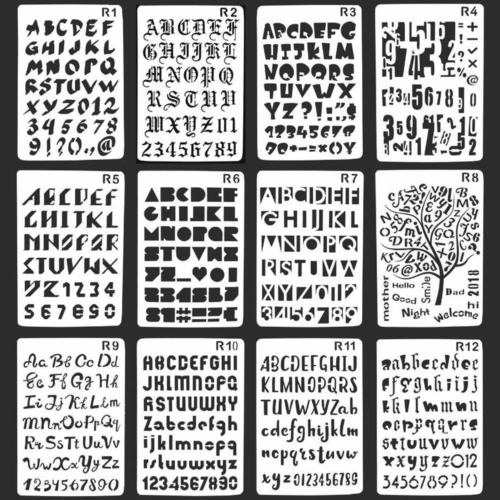 Lettere Da Appendere Al Muro eno saluto lettere modelli stencil alfabeto stencil arte della parete  pallottola ufficiale stencil planner pittura stencil scrapbooking