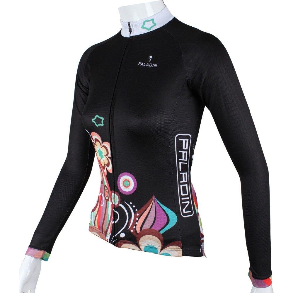 """PALADIN """"Květ noci"""" Dámské tričko s dlouhým rukávem na kole Jersey Cyklistické tričko s cyklistickým oblečením"""