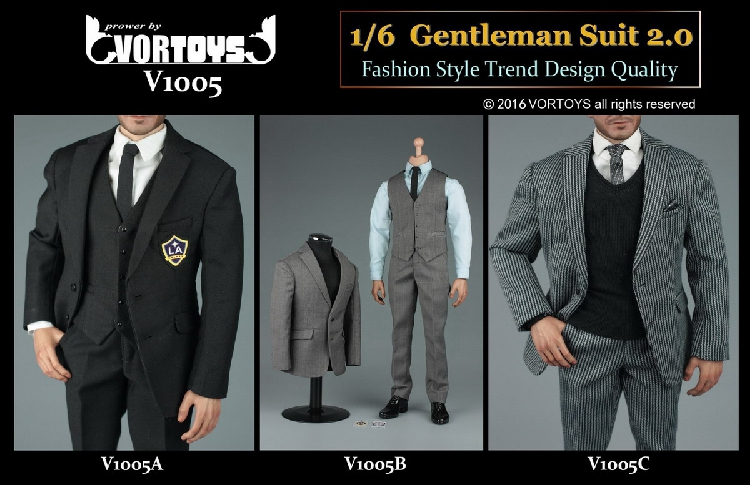 VORTOYS V1005 1/6 Scale Soldier Clothing British gentleman Suit 2.0 Fit 12Collectible Doll Toys Accessories 1 6 soldier clothes death game bruce lee suit head carving fit 12collectible doll toys accessories