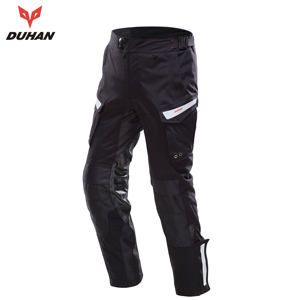 DUHAN Men's Windproof Motorcycle Enduro Riding Trousers Motocross Off-Road Racing Sports Pants Black And Gray scoyco professional motorcycle dirt bike mtb dh mx riding trousers motocross off road racing hip pads pants breathable clothing