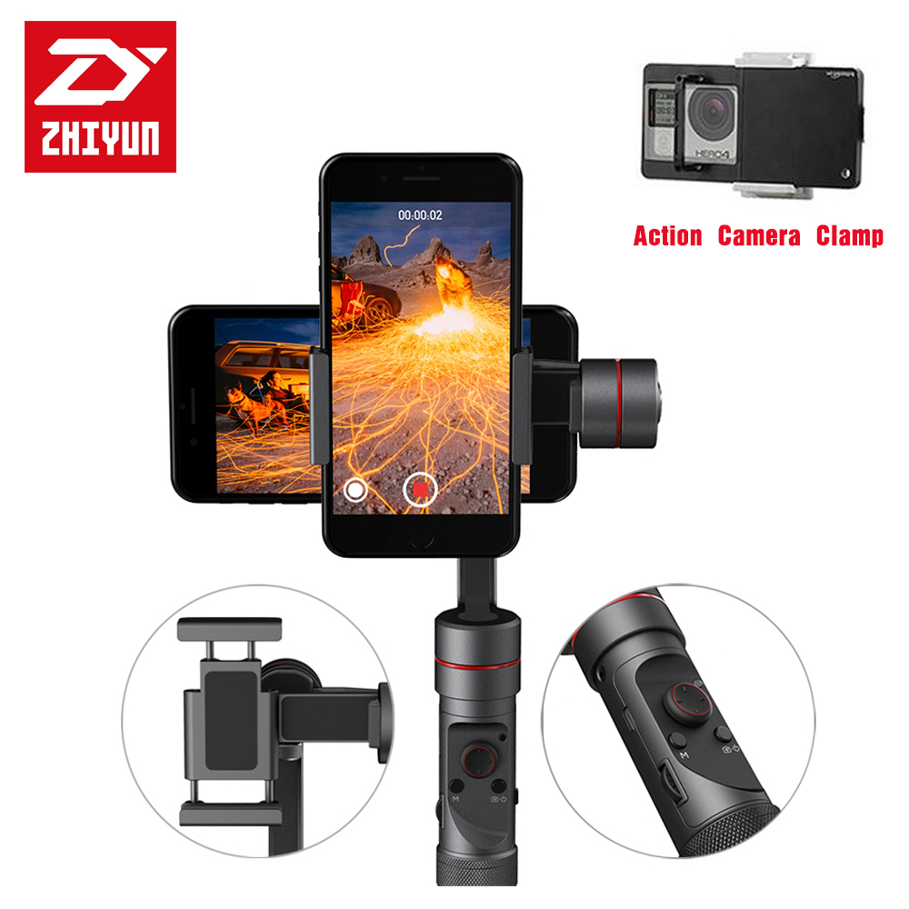 DIGITALFOTO ZHIYUN Smooth 3 smartphone Handheld 3 Axis gimbal stabilizer for action camera iphone Sumsung Gopro videorapher [hk stock][official international version] xiaoyi yi 3 axis handheld gimbal stabilizer yi 4k action camera kit ambarella a9se75 sony imx377 12mp 155‎ degree 1400mah eis ldc sport camera black