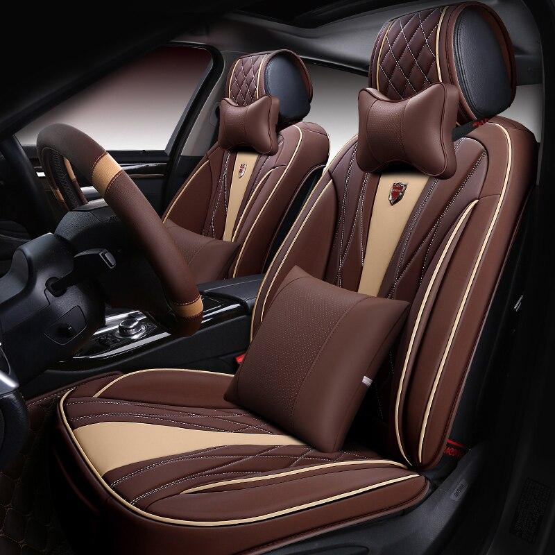 (Спереди и сзади) кожаные чехлы для сидений автомобиля подушки для Acura RDX GMC Sierra Mercedes GLE Lexus RX Mazda3 Toyota Tundra Audi Q5 Subaru
