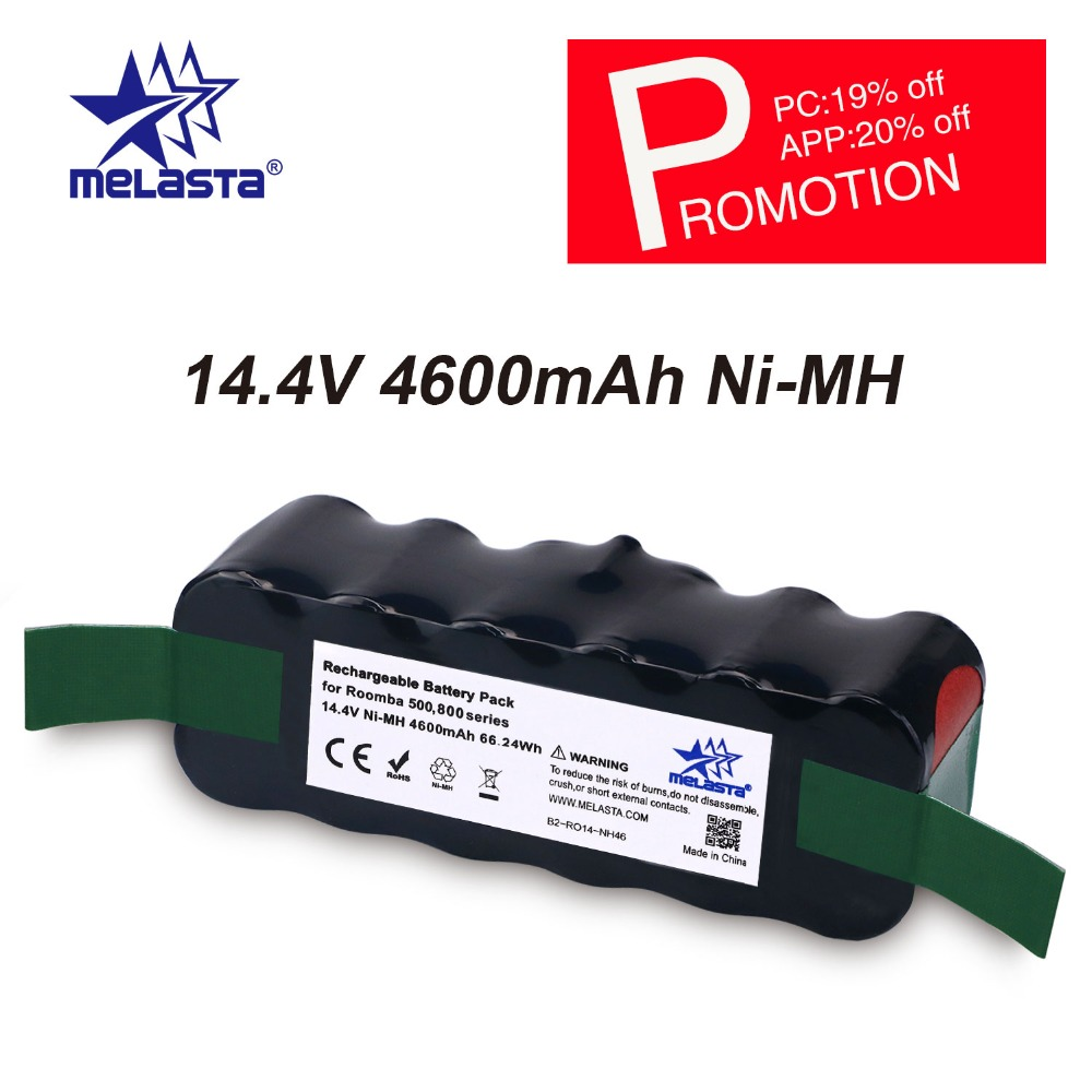 цена на Updated Capacity 4.6Ah 14.4V NIMH battery for iRobot Roomba 500 600 700 800 Series 510 530 550 560 620 650 770 780 870 880 R3