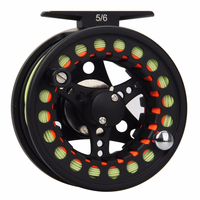 1 2 3 4 5 6 7 8WT Black Fly Reel And Line Combo Large Arbor