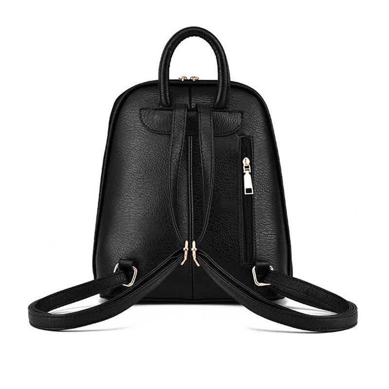 7060bd630874 купить черный рюкзак, Винтаж Для женщин рюкзак дизайнер PU кожаные ...