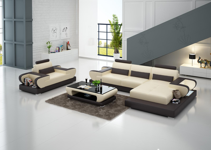 US $1350.0 |Full Fabric L Shape Sectional Living Room Furniture Leather  Sofa Set G8003E-in Living Room Sets from Furniture on Aliexpress.com |  Alibaba ...