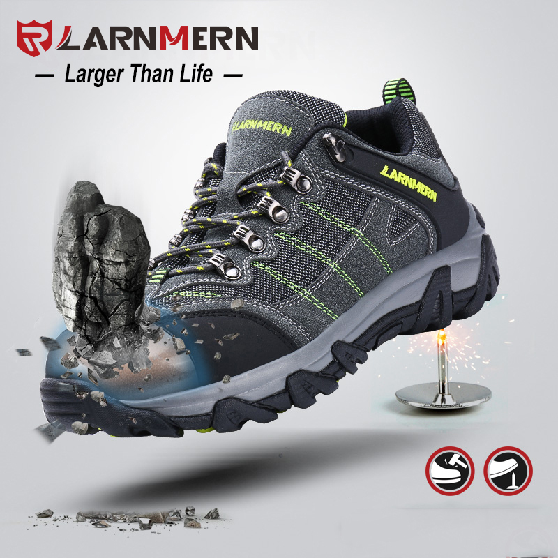 LARNMERN Steel Toe Safety Shoes For Men Anti-puncture Steel Midsole Breathable Work Sneakers Outdoor Sercurity FootwearLARNMERN Steel Toe Safety Shoes For Men Anti-puncture Steel Midsole Breathable Work Sneakers Outdoor Sercurity Footwear