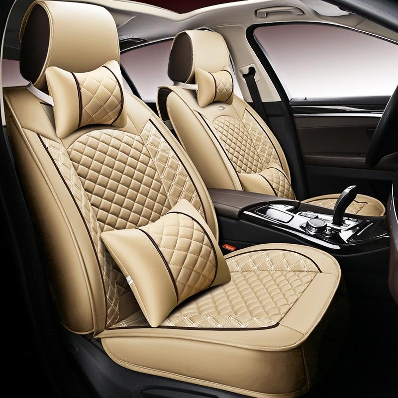 Nieuwe Luxe Pu Leather Auto Universele Auto Stoelhoezen Automotive Stoelhoezen Voor Lada Larqus 2108 2110 Priora Kalina Granta Vest