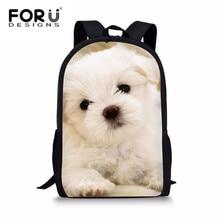 купить FORUDESIGNS Kids School Bag Satchel Backpack Yorkshire Terrier Schoolbags For Teenager Girls Camera Cats Backpacks Shoulder Bag дешево