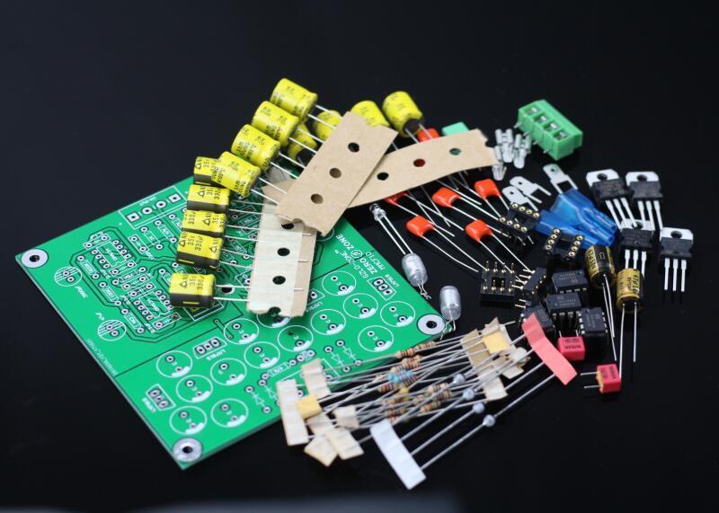 ZEROZONE MMCF10 Hifi LP phonographe MM amplificateur Kit/RIAA Phono préamplificateur Kit bricolage-in Amplificateur from Electronique    1