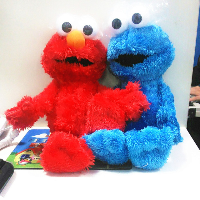 30cm Cute Sesame Street Plush Toys Elmo Big Vird Cokkie Monster Stuffed Dolls Toy Children Birthday