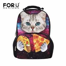 Бренд 3D Для женщин рюкзак милый котенок кошка печать Рюкзаки для Колледж студенты животных Обувь для девочек рюкзак для путешествий Mochila