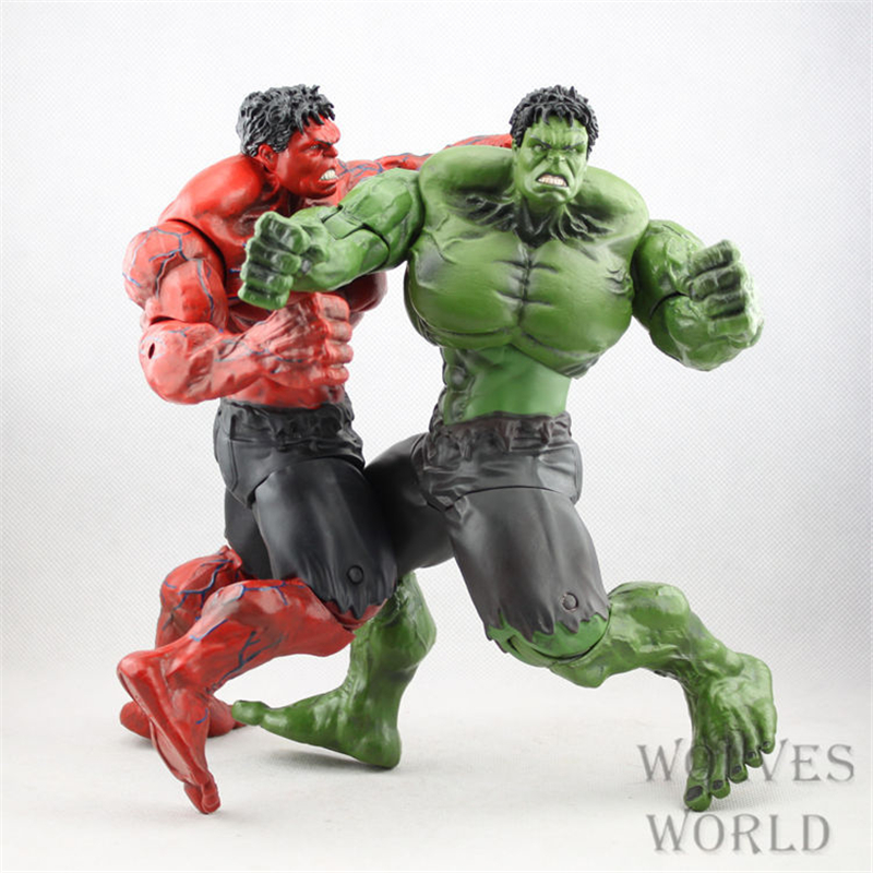 Super Hero The Avengers Hulk PVC Action Figures Collectible Model Movable Anime Figure Kids Toys Doll 26CM 2 Colors SHAF063 12pcs set children kids toys gift mini figures toys little pet animal cat dog lps action figures