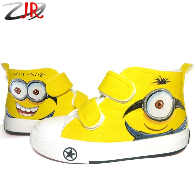 custom cartoon anime figure toddler and kids despicable me shoes