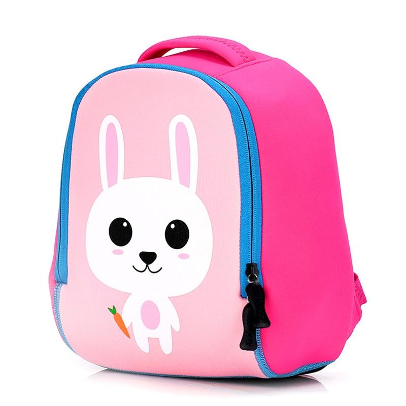 New Cute Rabbit Animal School Bags Toddler Kid Small Bag Cartoon Lion Kindergarten Backpack for Boys Girls Schoolbag 1-6 Years