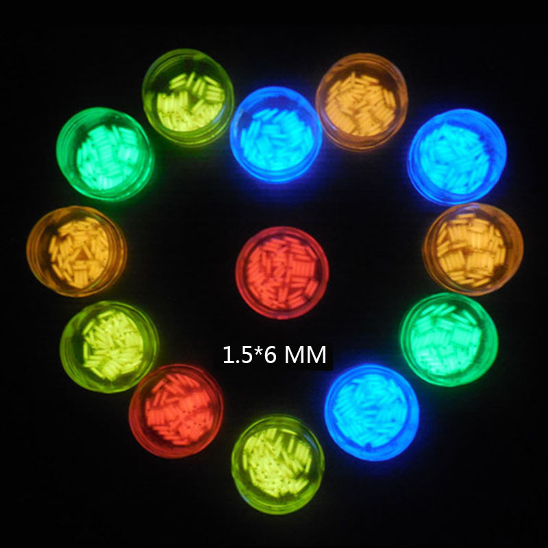 1PC 1.5*6mm Automatic Luminous 25 Years Tritium Keychain Keyring Fluorescent Tube Lifesaving Emergency Lights Camping Equipment