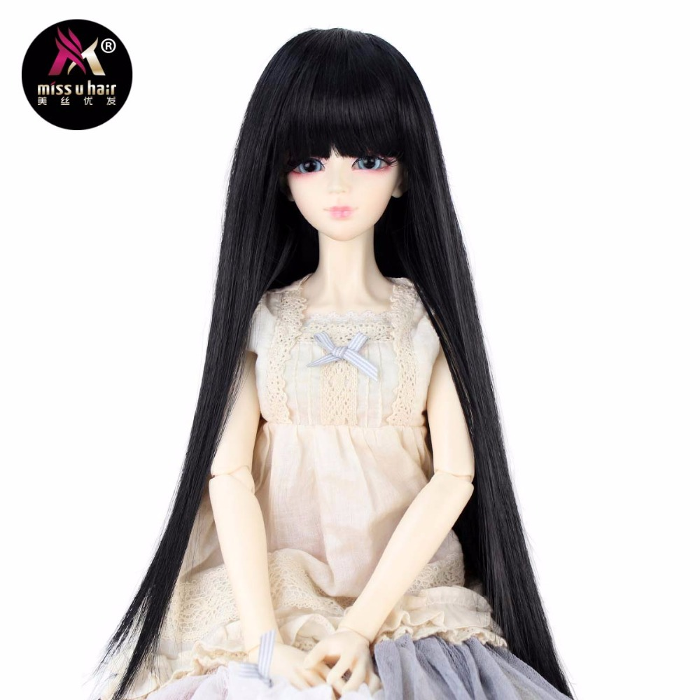 Shop For Cheap Miss U Hair 1/3 8-9inch Long Straight Hair Neat Straight Bang Sd Dod Msd Bjd Wig Doll Accessories Not For Human Hair Extensions & Wigs Synthetic None-lacewigs