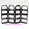 Wholesale High Quality Black Plastic Folding Screen Earring Display Stand Holder 240 Holes