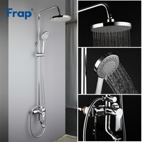 FRAP Bathtub Faucets contemporary style bathroom shower faucet bath shower mixer tap with rainfall shower head set tapware