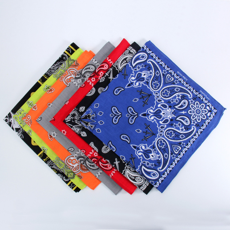Scarves Bandanas Paisley Female Hot 55x55cm For Riding Western Cowboy Hip-Hop Feminina-Head