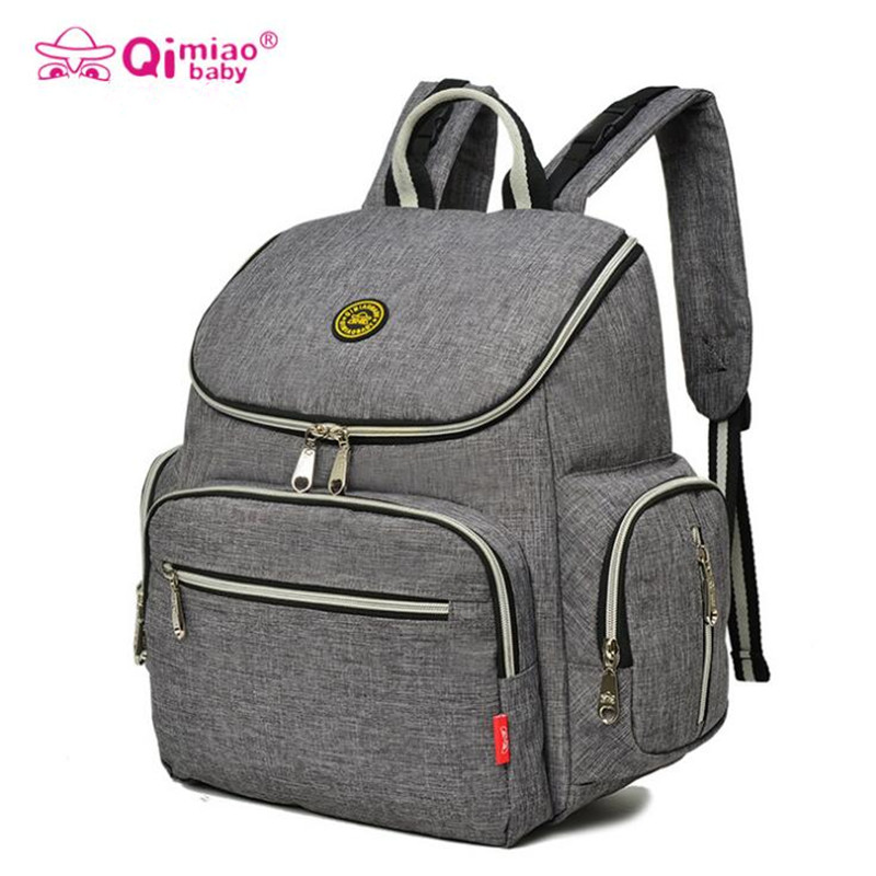 qimiaobaby new baby diaper bag nappy backpack change pad stroller straps waterproof tote. Black Bedroom Furniture Sets. Home Design Ideas
