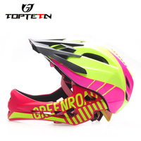 TOPTETN Cycling Bike Bicycle Full Covered Child Helmet EPS Parallel Car Motorcycle Children Helmet 2 In 1 Sport Safety Helmets