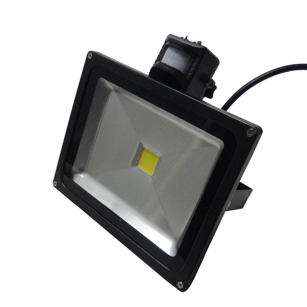 ФОТО IR Sensor 30W LED Flood Light IP65 Waterproof AC85-265V Input Black Color