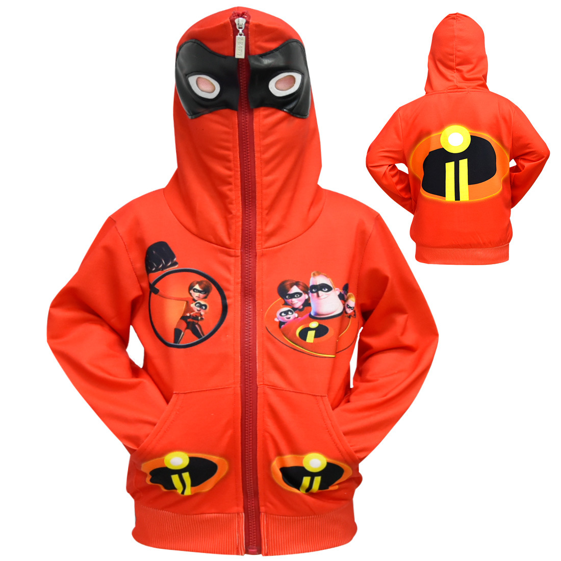 2018 Hot The Incredibles 2 Cartoon Hoodies For Kids Boy's Girl's Spring Autumn Sweatshirt Top Coat Sportswear Cosplay Costume