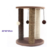 Sisal Pets Cat Climbing Frames Toys Interactive Gatos Shelves Funny Pet Interesting Supplies Cute Products For Kittens QQM2189