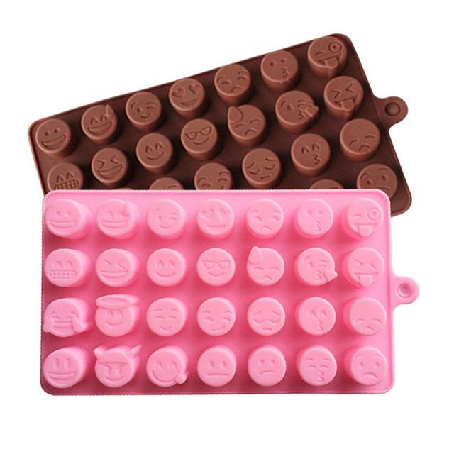 1 шт. DIY emoji торт шоколадное печенье льда Мыло силиконовые формы лоток для выпечки Плесень личности выражение льда формы