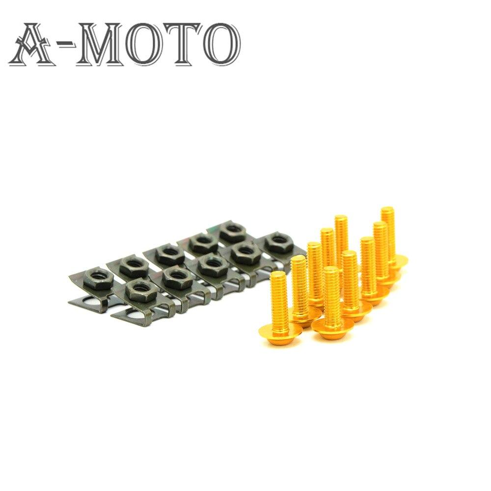 Universal de 6mm accesorios de motos carenado pernos de trabajo del cuerpo para