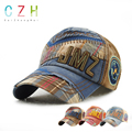 CaiZhongHai / SK20 Patchwork Adjustable Baseball Caps Cotton Tear Denim Snapback Caps Women Men Snapback Hip hop Bonnet Gorras