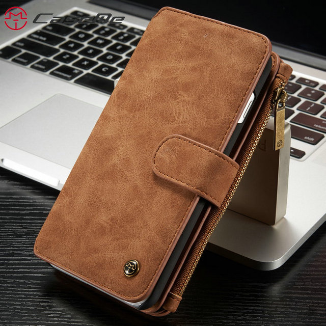 sale retailer be4c6 0910b CaseMe Phone Case For iPhone 7 7 Plus Luxury Retro Leather ...