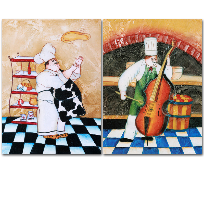 Frameless Modern Cartoon Chefs Canvas Prints Restaurant: Online Buy Wholesale Happy Chef From China Happy Chef