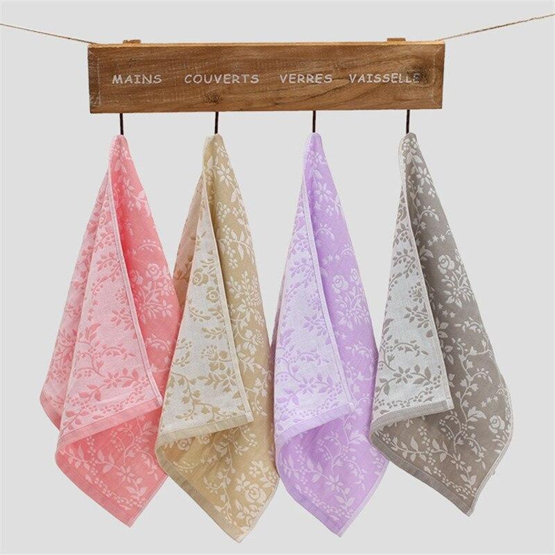 100% Cotton 34CM Face Towel Soft Dry SPA Showers Hair Towel Jacquard Square Kids Chidren Towel Towel Kitchen Bathroom Soft Plush