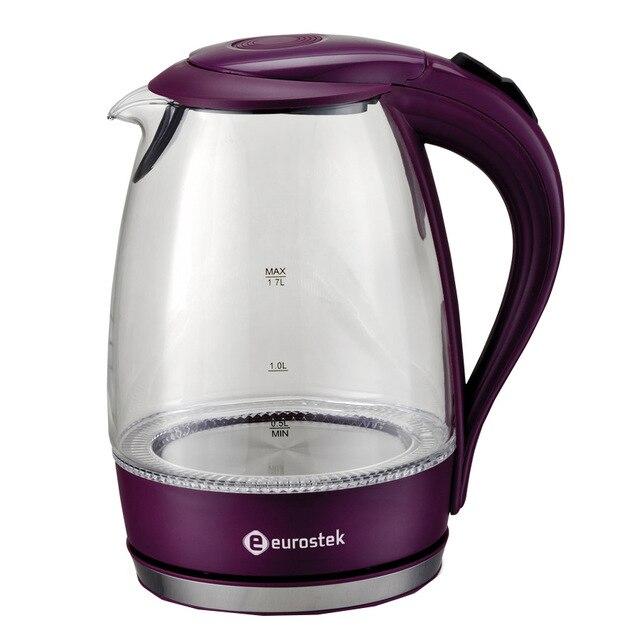 Чайник электрический Eurostek EEK-2207 (Мощность 2200 Вт, объем 1.7 л, подсветка, вращение 360°, автоотключение)