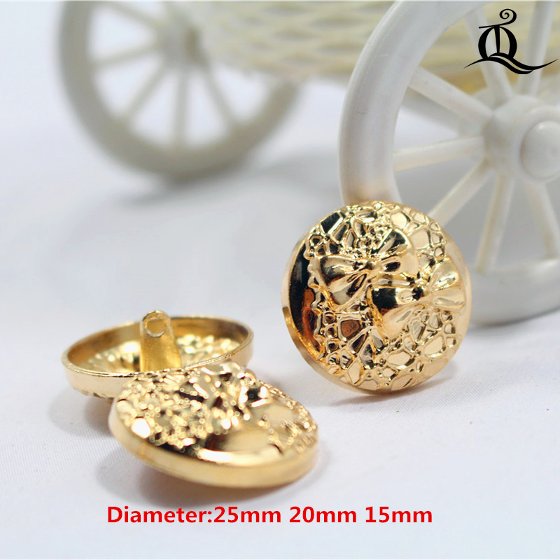Shirt Coat Brand Buttons,w4 10pcs Gold Bow Diameter Of 15mm-25mm Gold Bow Metal Buttons Hot Sale Free Shipping Clothing Accessories
