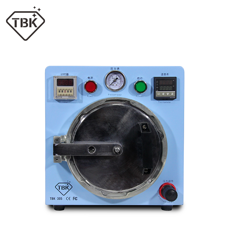TBK-305 Automatic small version defoaming LCD Digitizer OCA Bubble Removing Machine for iphone samsung