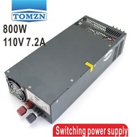 800W 0V TO 110V 7.2A Single Output Switching power supply AC to DC 110V or 220V