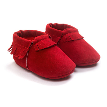 2019 PU Suede Leather Newborn Baby Moccasins Shoes Soft Soled Non-slip Crib First Walker 4