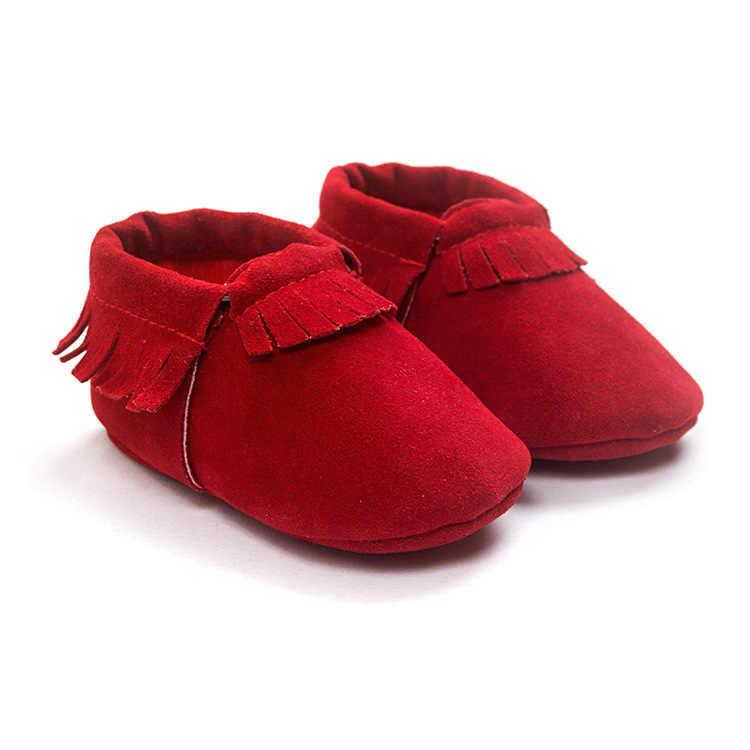 2019 PU זמש עור יילוד תינוק מוקסינים נעלי סוליות הרך-להחליק עריסה הראשונה ווקר