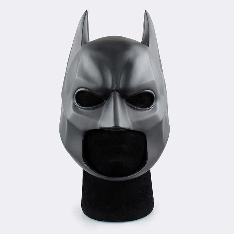 The Dark Knight Dewasa Batman Full Overhead Lateks Black Cosplay Masker Helm Pesta Halloween Prop Film Batman Super Hero Mask