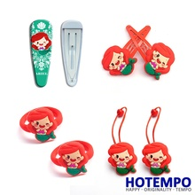 Hotempo Mermaid Ariel Princess Action Figure Girlish Fgure Suit BB Hair accessories Band Ring Hairpin